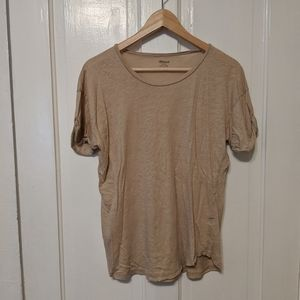 Madewell comfortable tee with roll sleeves
